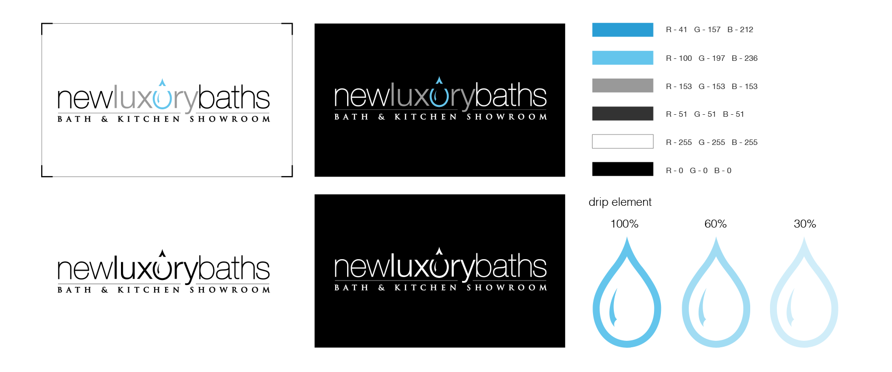 New Luxury Baths Branding