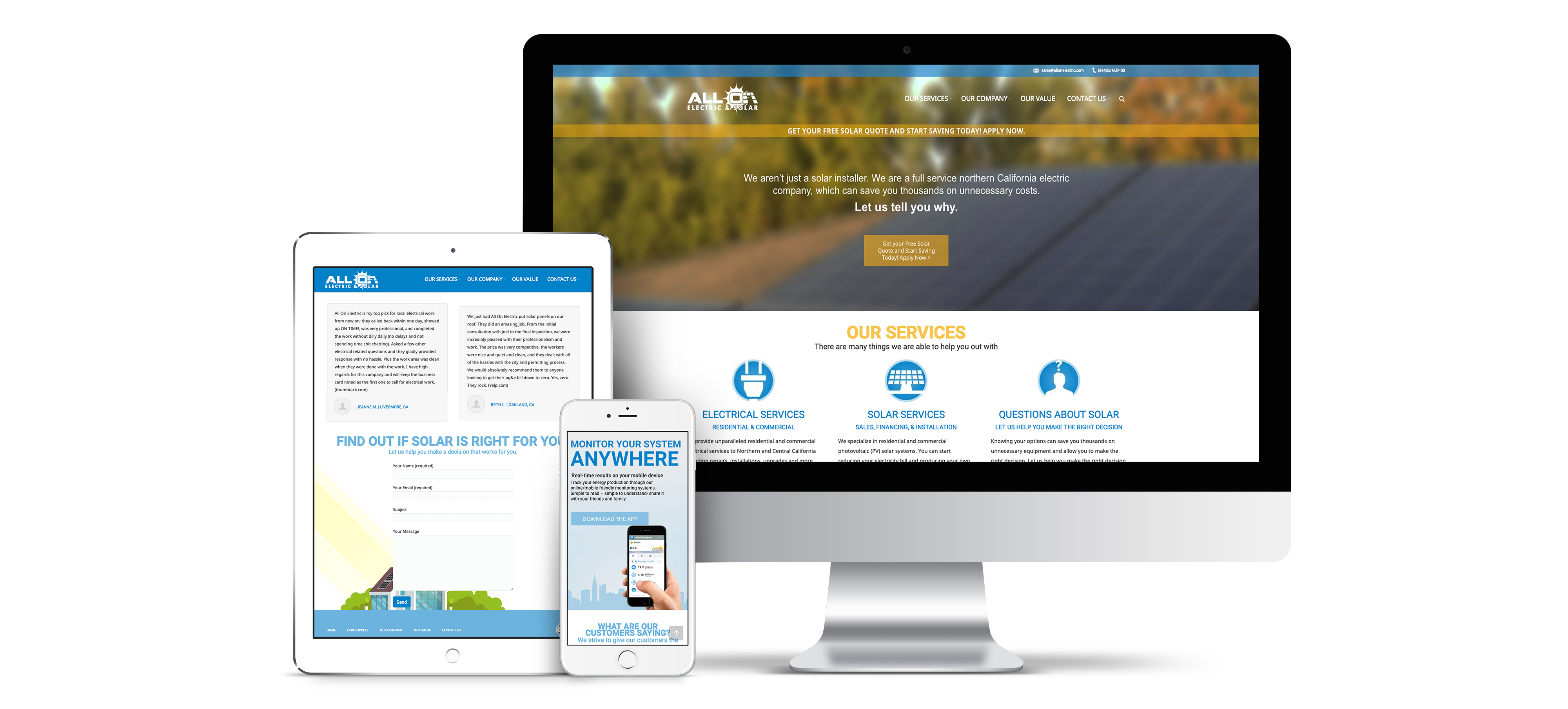 All On Electric Responsive Website