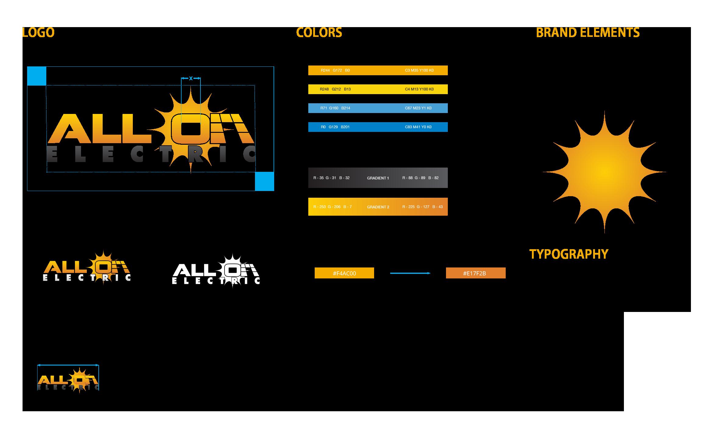 AllOn Electric Branding